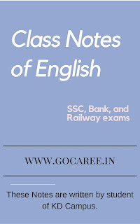 Class Notes of English of KD Campus: Download in PDF