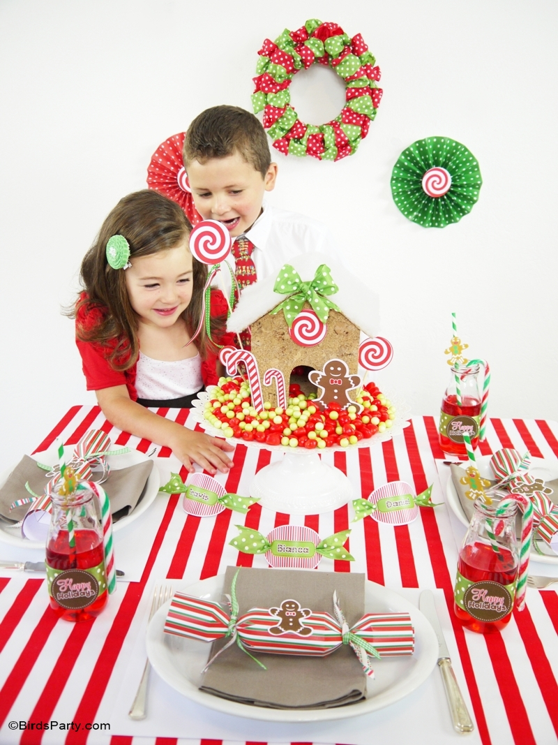 Candyland Christmas DIY Tablescape | Kids Holiday Table - BirdsParty.com  sc 1 st  Birdu0027s Party Blog & Candyland Christmas Tablescape | Kids Holiday Table - Party Ideas ...