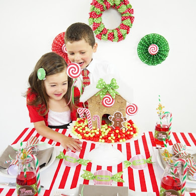 Candyland Christmas Tablescape | Kids Holiday Table