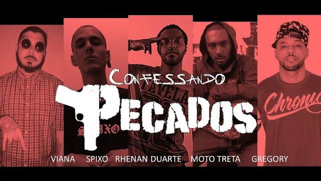 """Diretamente do interior paulista, Viana Mc, Spixo, Rhenan Duarte, MotoTreta & Gregory lançam o cypher """"Confessando Pecados"""""""