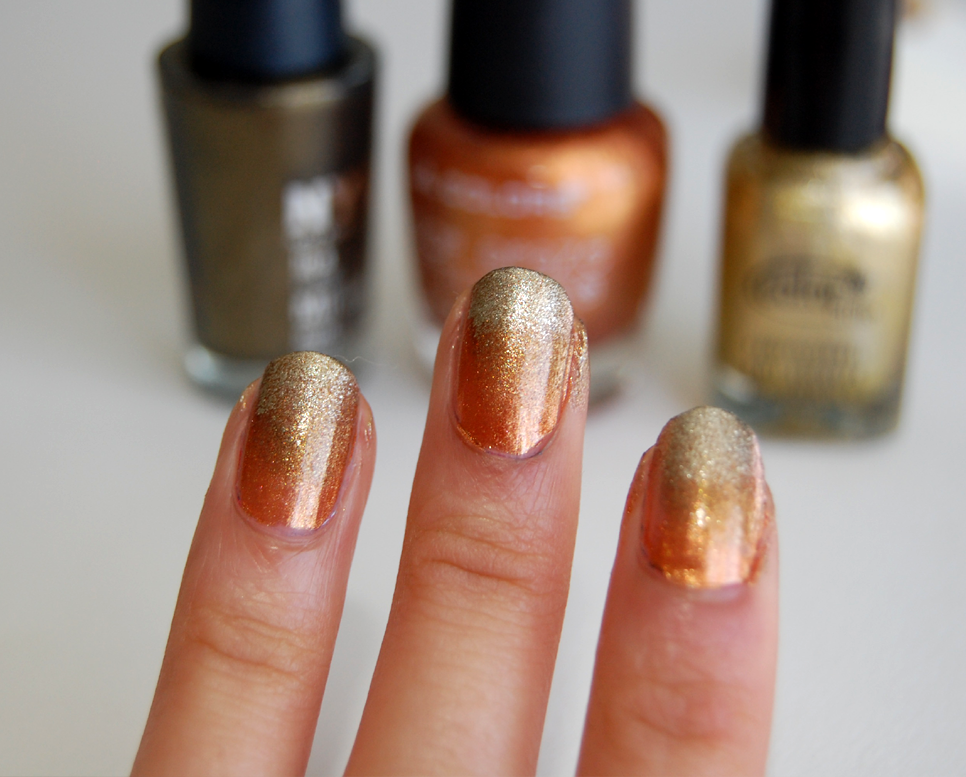 nail DIY: Autumn Ombre Manicure - Wild Amor