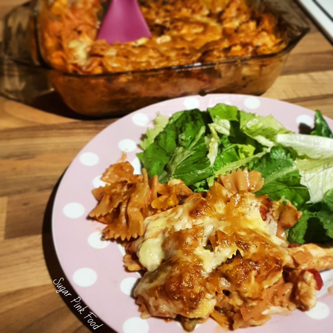 Creamy Chicken Bacon Tomato Pasta Bake Healthy Recipe Sugar