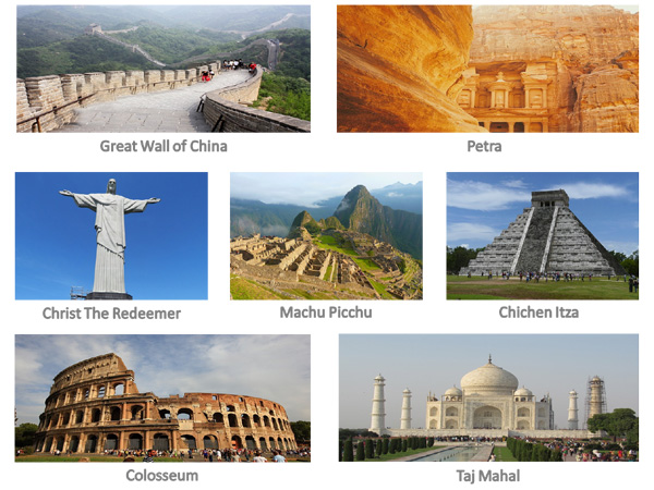 melalui hasil voting terbanyak di seluruh dunia Daftar 7 Keajaiban Dunia terbaru