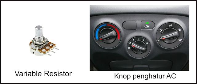 Aplikasi Variable Resistor  pada mobil