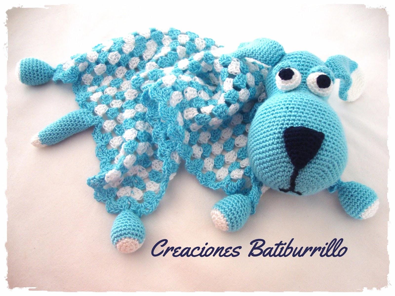 CREACIONES BATIBURRILLO: PERRO MANTA DE APEGO EN CROCHET