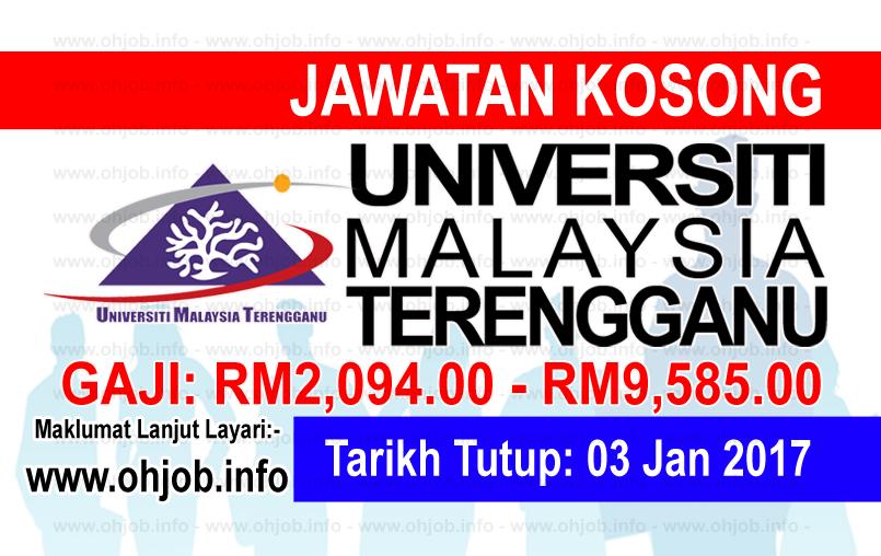 Jawatan Kerja Kosong Universiti Malaysia Terengganu (UMT) logo www.ohjob.info januari 2016
