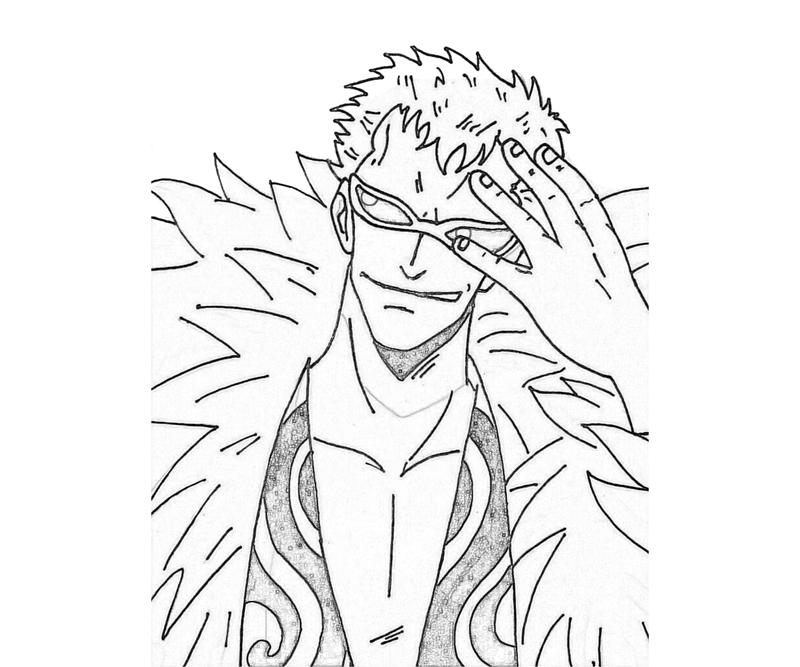 One Piece Donquixote Doflamingo Face