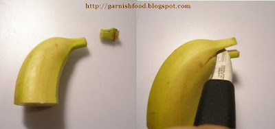 banana dolphin garnish how to