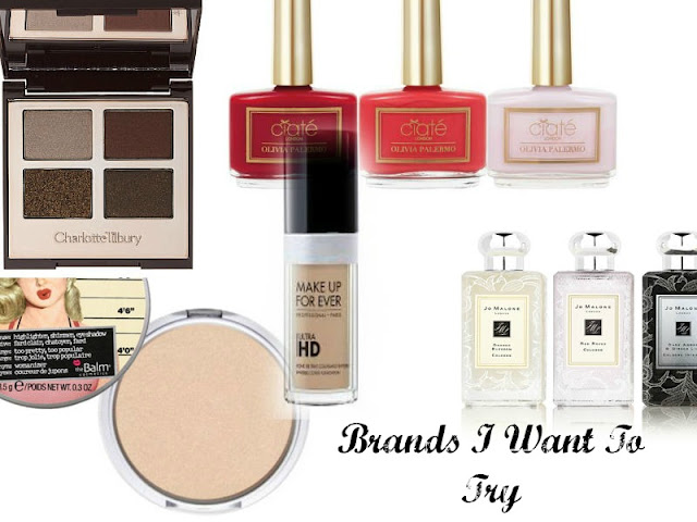 Brands I Want To Try in 2016