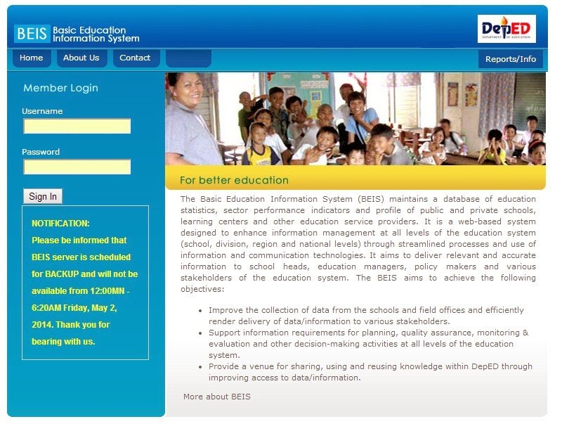 EBEIS Homepage