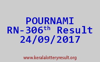 POURNAMI Lottery RN 306 Results 24-9-2017