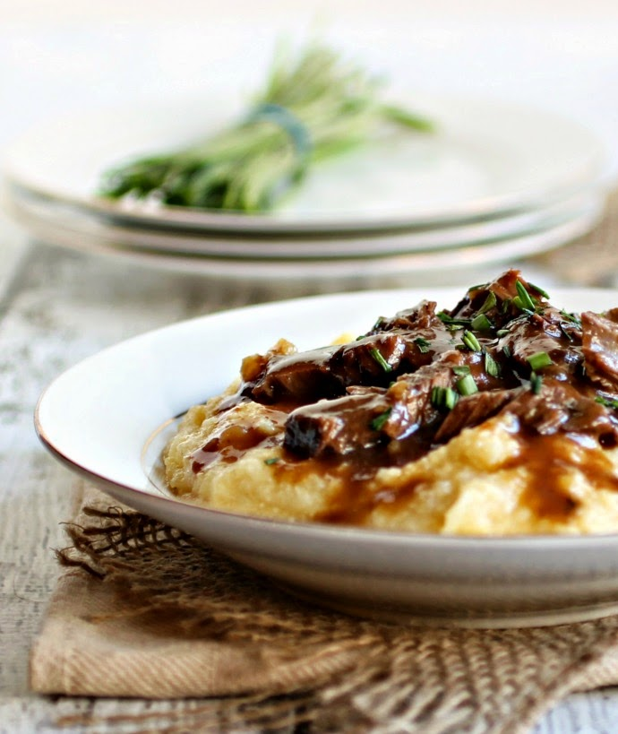 Tender Slow Cooked Roast in Red Wine Reduction