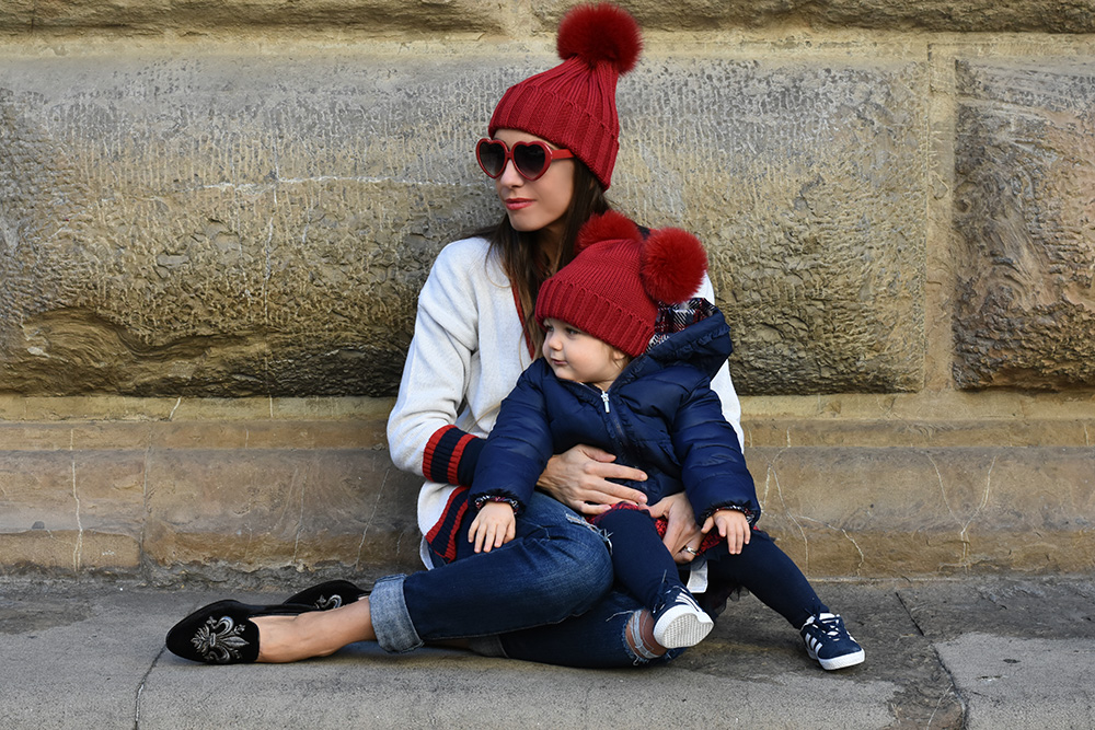 cappelli coordinati mamma figlia