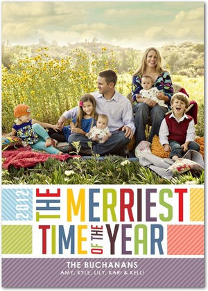 Merriest Stripes Flat Holiday Photo Card