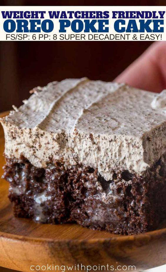 Oreo Poke Cake #Oreo #poke #Cake #Healthy #Diet