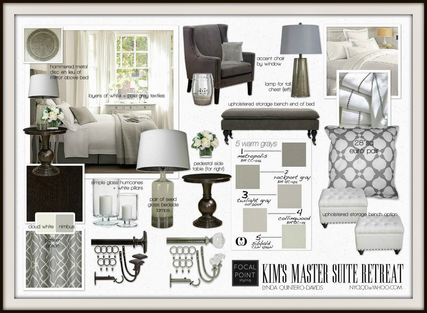 FOCAL POINT STYLING MASTER BEDROOM  STYLE GUIDANCE ON A