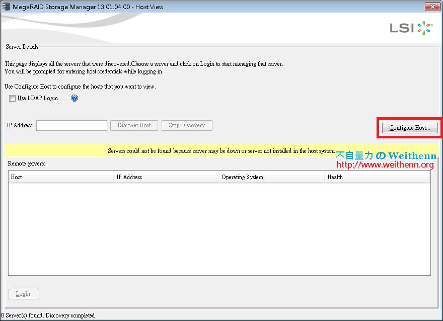 MegaRAID Storage Manager for ESXi 5 5 ~ 不自量力のWeithenn