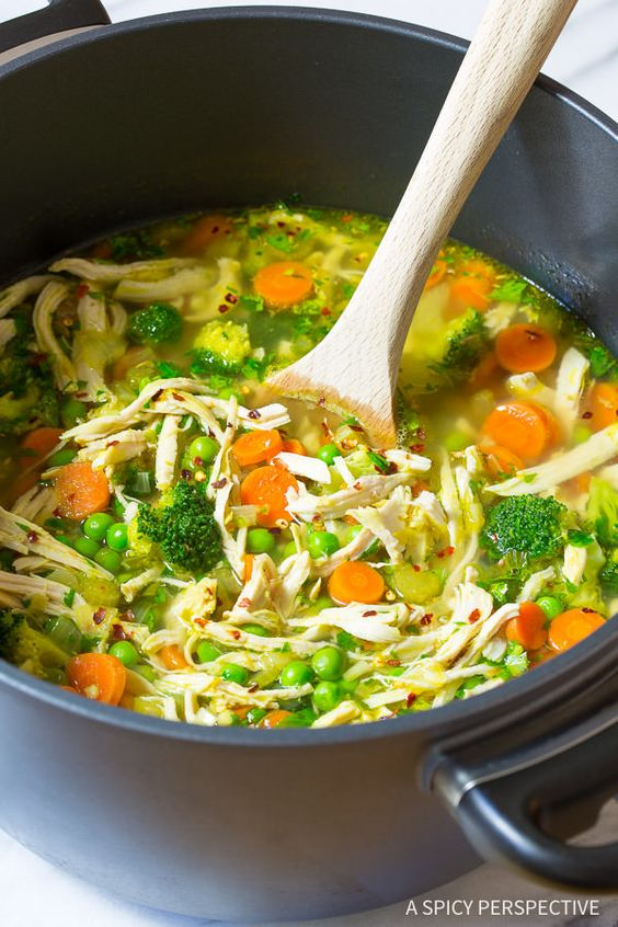 Chicken Detox Soup #chicken #chickenrecipes #soup #souprecipes #detoxsoup #detoxsouprecipes #healthysoup #healthyfood