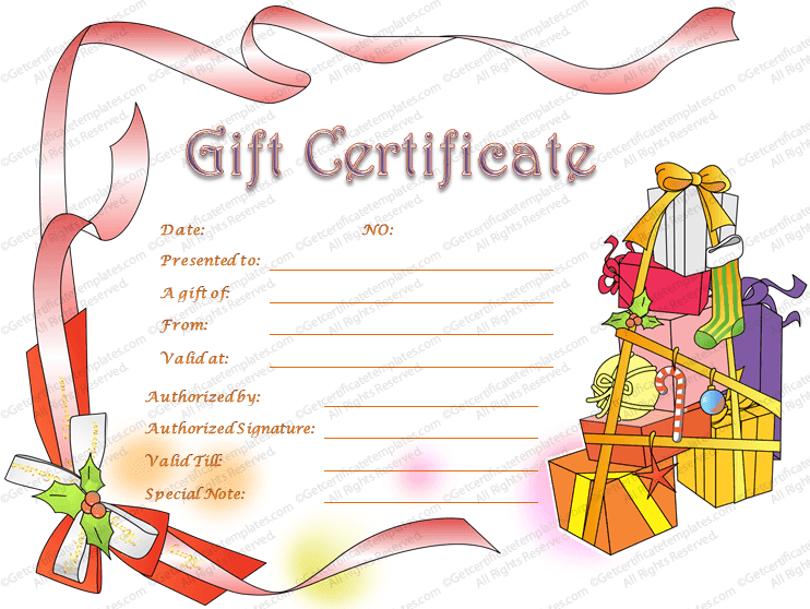 Gift certificate templates for Holiday gift certificate template free printable