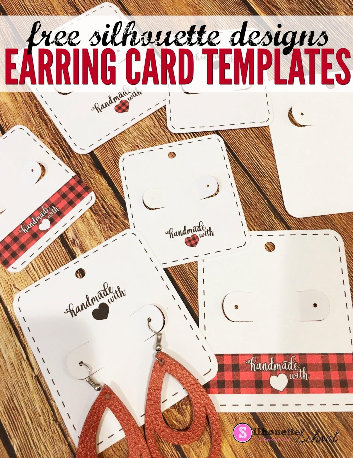 faux leather earring template free www