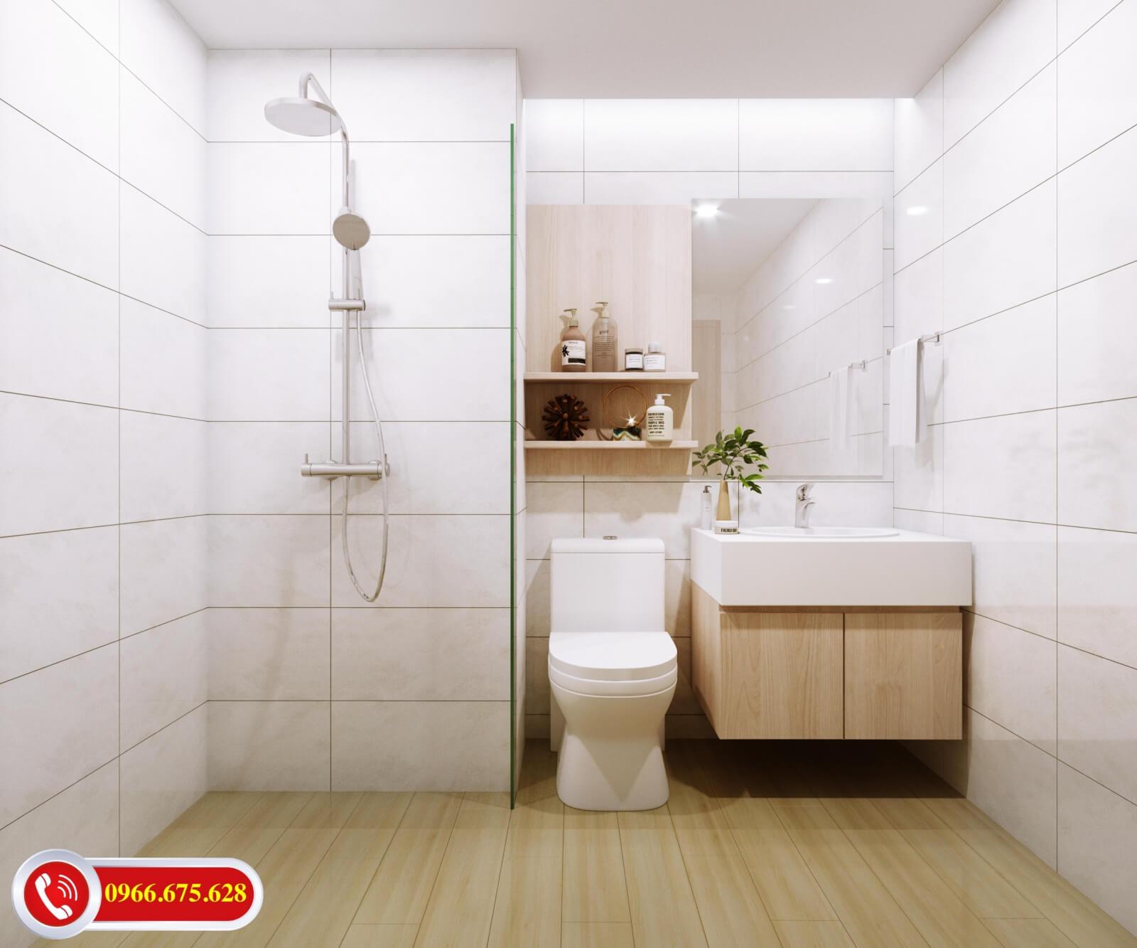 Phòng vệ sinh của dự án Amber Riverside 622 Minh Khai