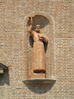A statue of St Lawrence at the Convent of Capuchin Friars in Rovigo, in the Veneto