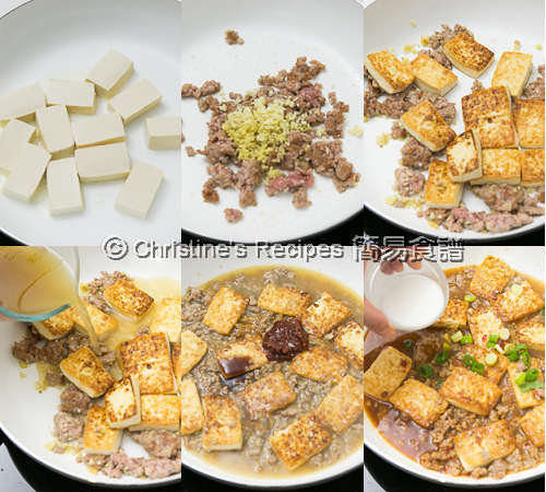 Tofu and Pork in Chilli Bean Sauce Procedures02