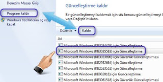 Windows Update KB3035583 güncellemesi