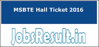 MSBTE Hall Ticket 2016