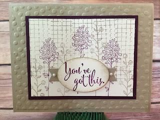 I copied this card from Ronda Wade!  I replaced her greeting with this one from You've Got This.