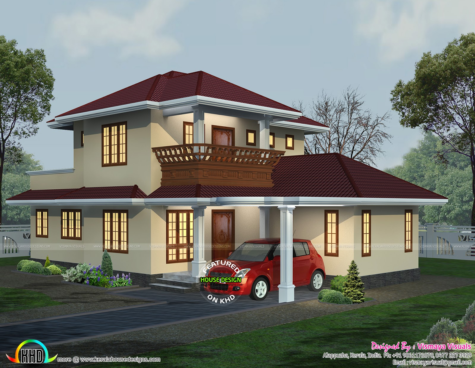 1658 sq ft typical kerala home kerala home design and for Typical house design