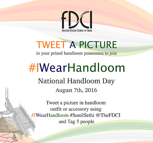 'Selfie-with-Handloom', a social media campaign launched by Smt. Smriti Irani supported by Fashion Design Council of India