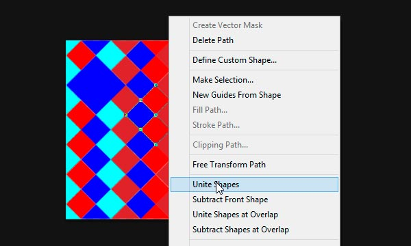unite shapes in photoshop
