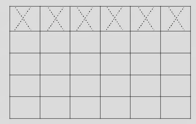 Alfabeto Pontilhado Letra X