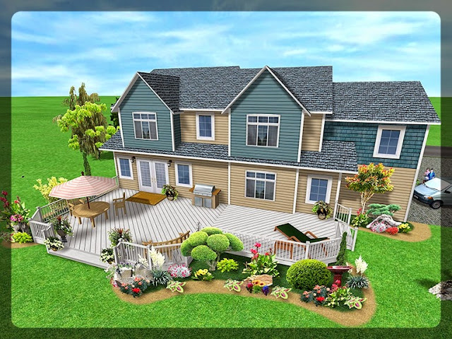 3D Plan Home Garden Design Ideas 6