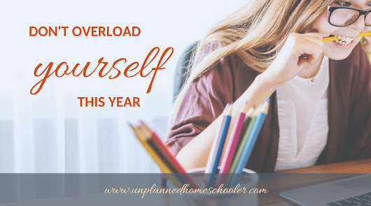 Don't overload yourself this year
