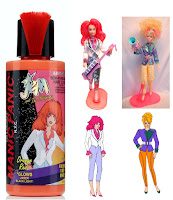 jem holograms hair dye manic panic kimber red orange video doll ugly