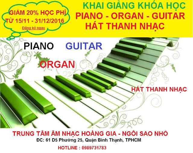 dạy nhạc piano organ guitar