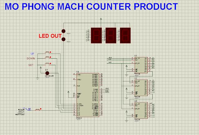 Đếm sản phẩm dùng AT89XX hiển thị led 7 thanh (demo)