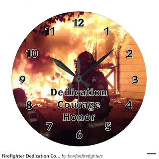 Personalized Firefighter Clocks Dedication, Honor, Courage