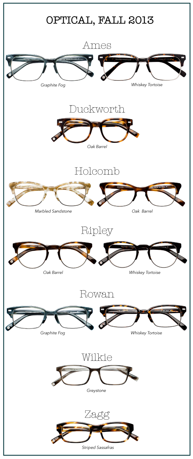 Warby Parker Fall 2013 Monocle Collection