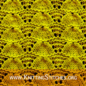 Lucina Shell Lace stitch | Knitting Stitch Patterns. Very Easy Design for Sweater and Cardigan