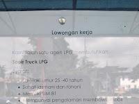 LOWONGAN PADANG || SOPIR TRUCK LPG !!