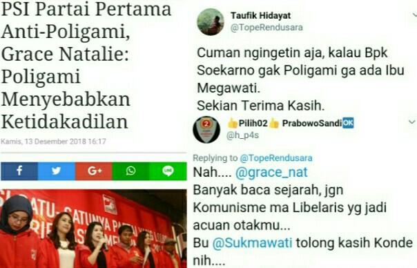 Netizen Ingatkan PSI yang Anti Poligami: Kalau Soekarno Gak Poligami, Gak Ada Bu Megawati