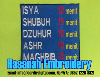 Disclaimer Untuk Jasa Bordir Komputer di Tasikmalaya - Hasanah Embroidery