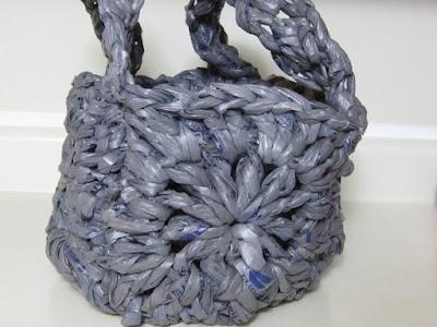 plarn, crochet, bag, granny square