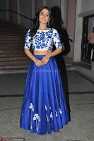 Regina Casandra in Stunning White Embroidery Crop Top Choli and Blue Ghagra at Santosham awards 2017 curtain raiser press meet 02.08.2017 007.JPG
