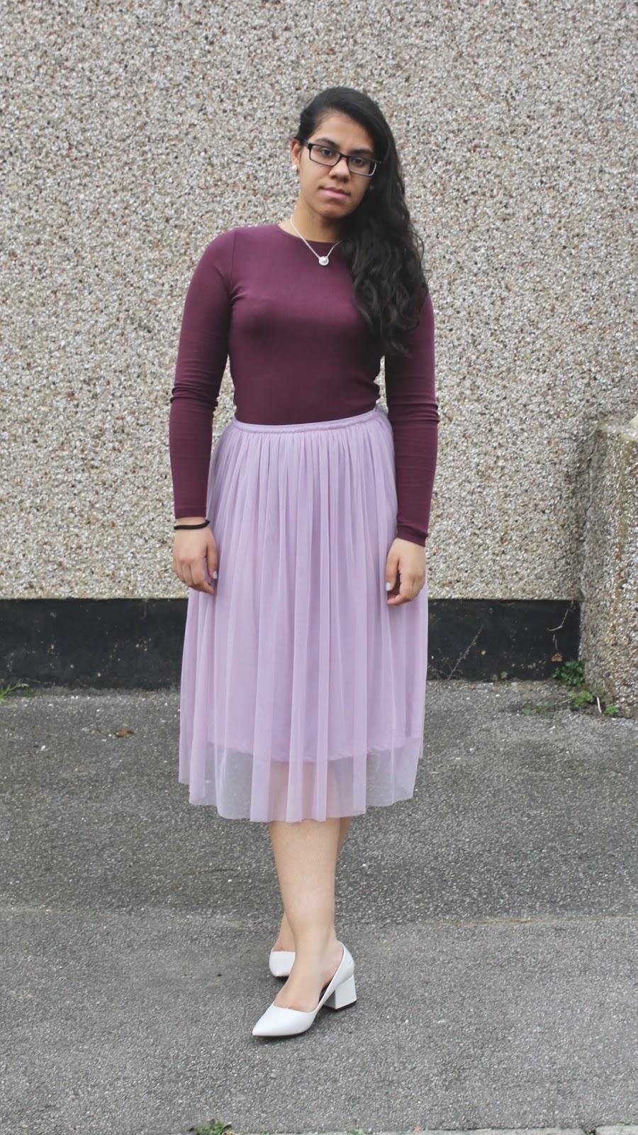 Primark Purple Tulle Date Night Skirt