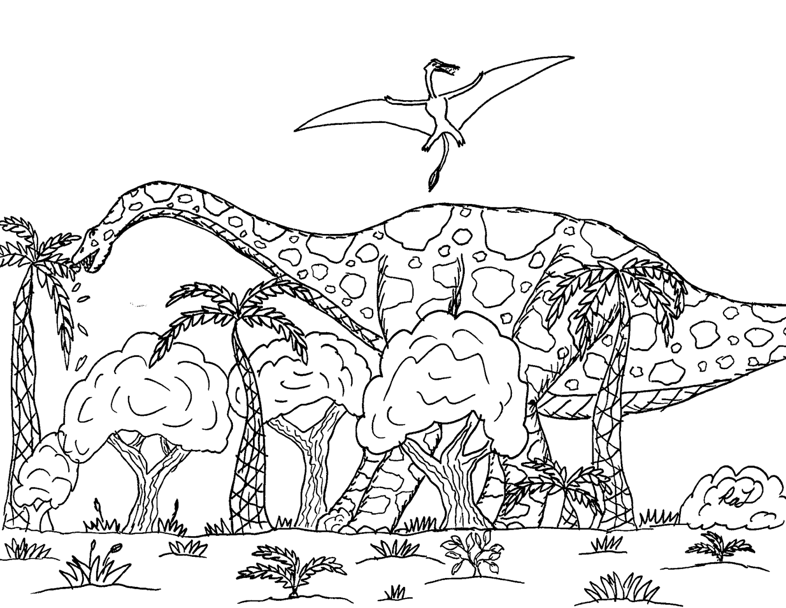 Robin\'s Great Coloring Pages: Herbivorous Dinosaur Diets