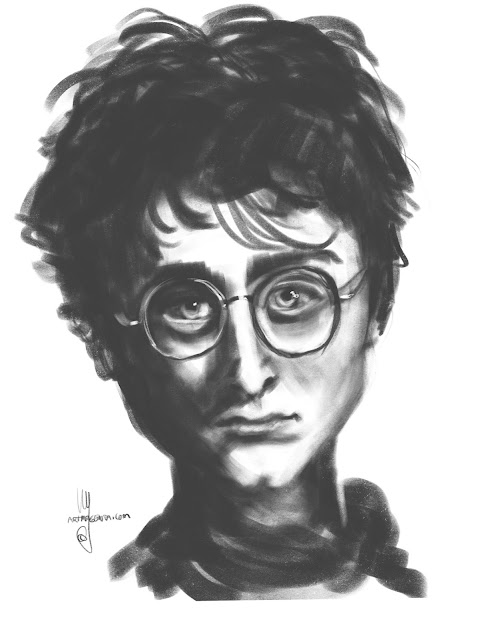 Harry Potter caricature by Artmagenta